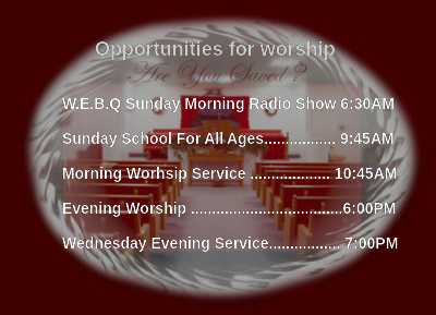 Opportunties for worship